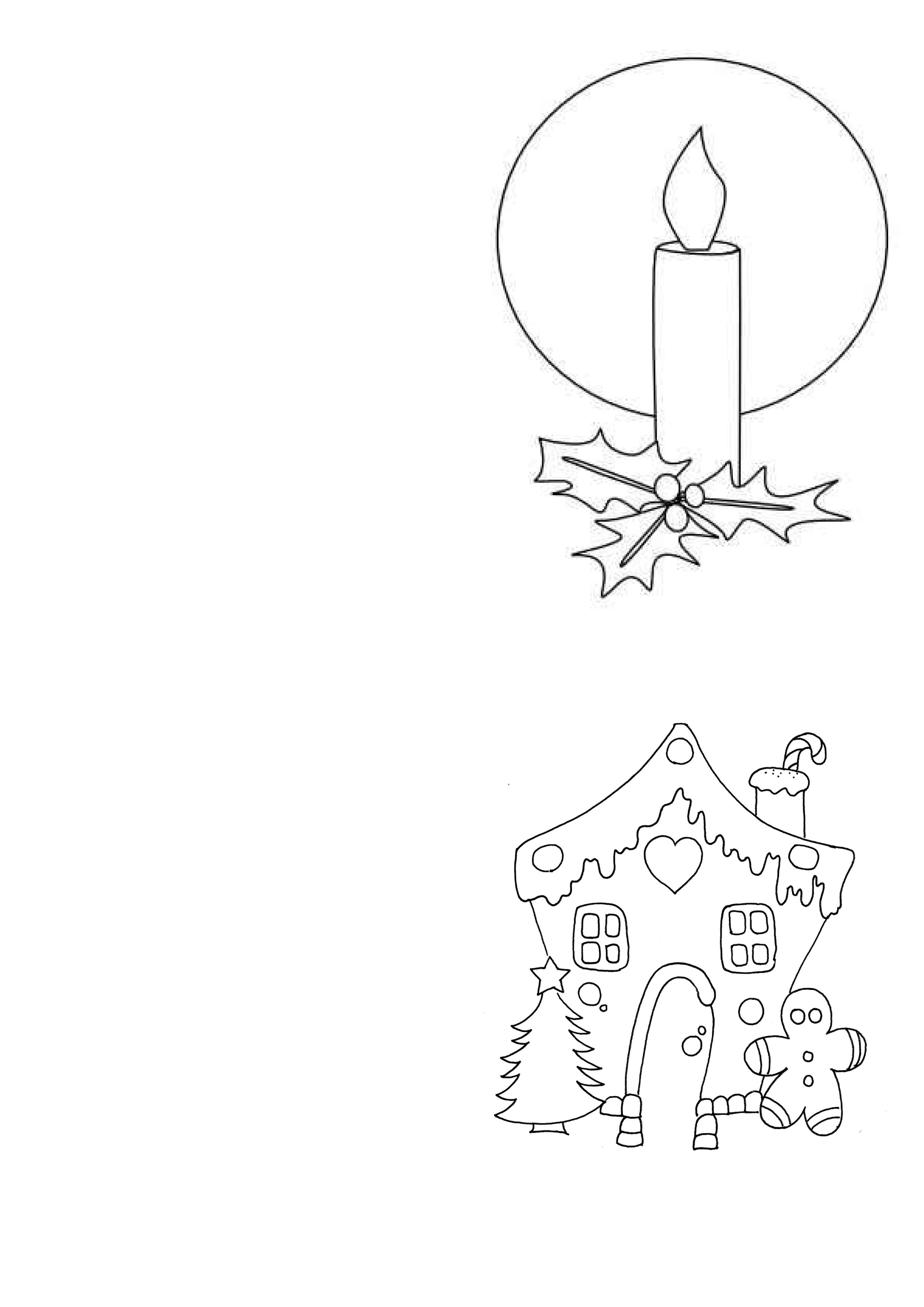 Children's FREE christmas card print outs for card making